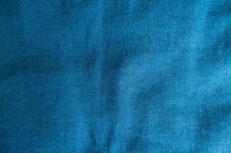 Cerulean simple linen surface fabric from above Stock Photo