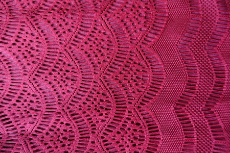Lacy fabric with waves pattern from above Banco de Imagens