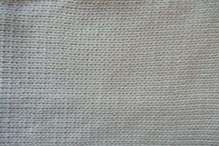 White handmade stockinette stitch fabric from above