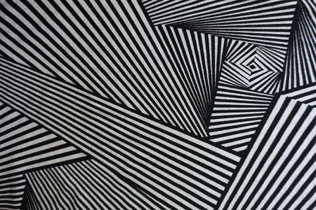 Asymmetric geometric print on fabric from above Stock Photo