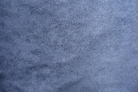 Top view of blue artificial suede fabric