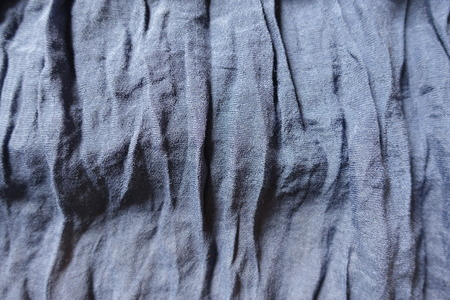 Jammed thin blue cotton and polyester fabric