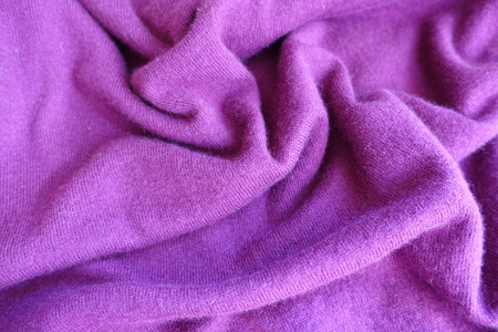 Crumpled thin simple fuchsia colored knitted fabric Stok Fotoğraf