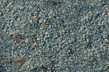 Bluish grey crushed stone directly from above