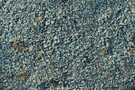 Top view of blue grey crushed stone