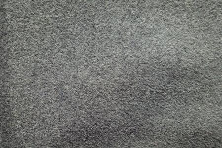 Top view of thick grey woolen coat fabric