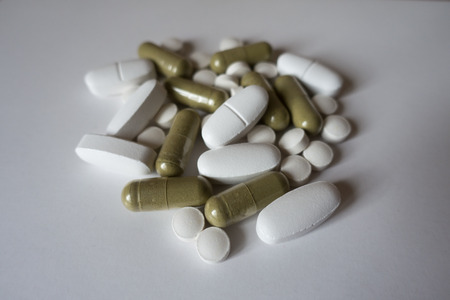 Moringa capsules, calcium caplets and vitamin K2 tablets