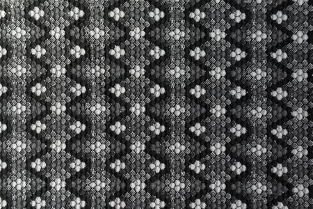 Texture of thick cotton fabric with pattern in shades of grey