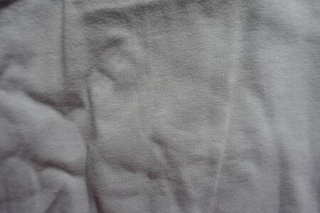 Pale grey jammed cotton fabric from above Stok Fotoğraf