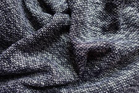 Draped thick heather blue gray fabric from above Фото со стока