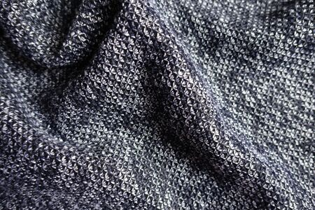 Heather blue gray fabric in soft folds