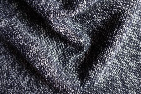 Jammed thick heather blue gray fabric from above