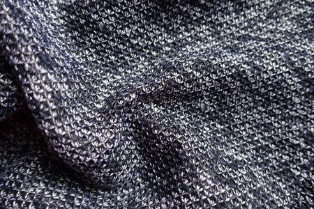 Thick heather blue gray fabric in soft folds Фото со стока