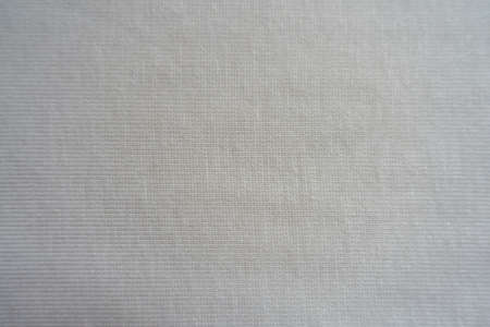 View of simple white cotton jersey fabric from above