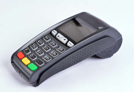 gprs: POS Payment GPRS Terminal, isolated on white