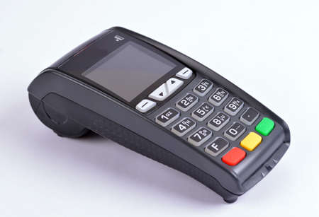 POS Payment GPRS Terminal, isolated on white photo