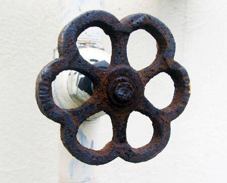 waterpipe: Handwheel of  valve of water line. very useful thing