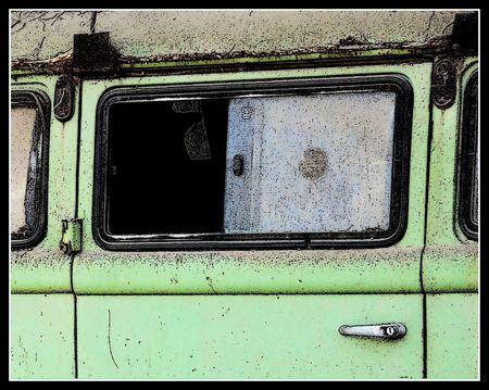 forgotten: old forgotten tourist van