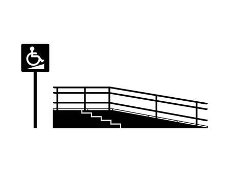 Oprit voor het gehandicapte vector icoon