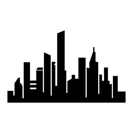 city silhouette icon royalty free cliparts vectors and stock rh 123rf com world city silhouette vector city silhouette vector download