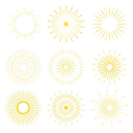starshine: Retro Sun burst shapes. Vintage starburst