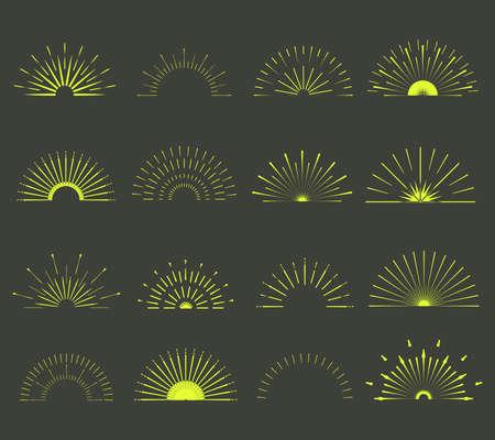 starshine: Retro Sun burst shapes.