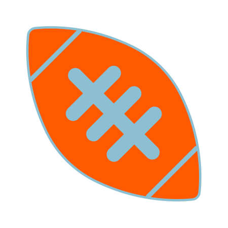 receiver: American Football ball sign. Equipment for professional american sport. Simple design. Sport competition sign. Vector illustration