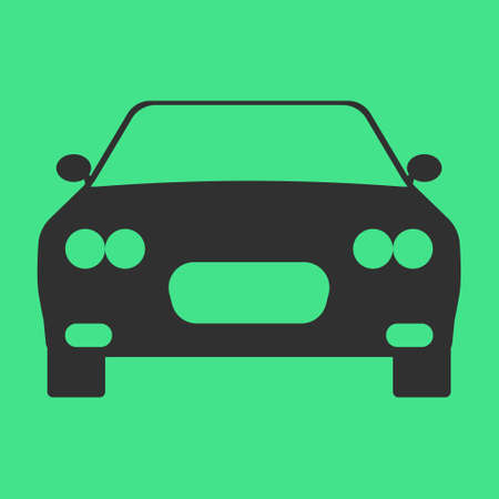 Car Transmission: Car flat icon on background. Vector illustration. Isolated.