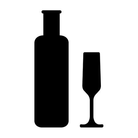 barware: Bottles and glasse of alcohol. Wine vector illustration.