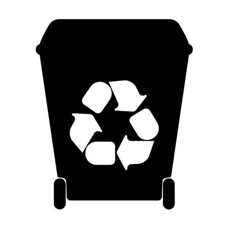 color separation: Big  containers for recycling waste sorting. Vector illustration. Illustration