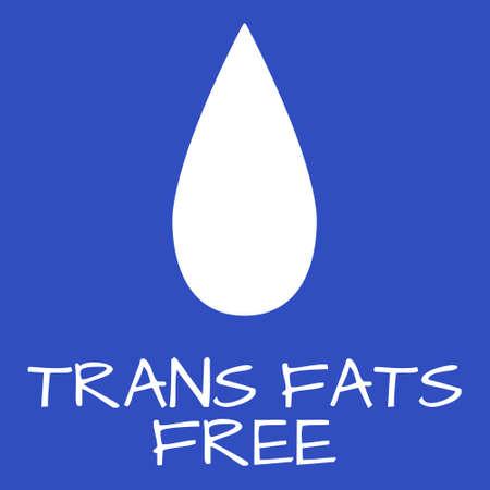 healthier: Trans Fats Free Label. Food intolerance symbols. Vector illustration. Illustration