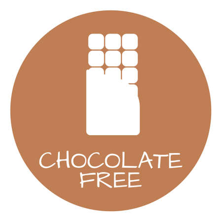 intolerance: Chocolate Free Label. Food intolerance symbols. Vector illustration.