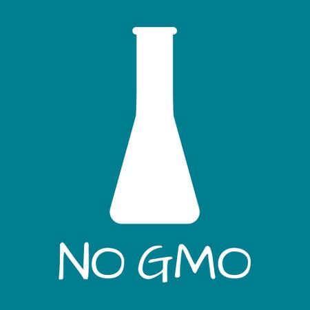 genetically: No GMO Label. Food intolerance symbols. Vector illustration. Illustration