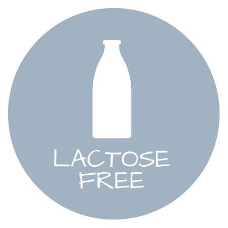 intolerance: Lactose Free Label. Food intolerance symbols. Vector illustration. Vectores