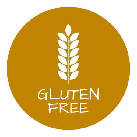 intolerancia: Etiqueta gluten libre. símbolos intolerancia alimentaria. Ilustración del vector. Vectores