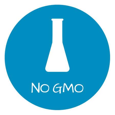 intolerancia: No GMO Label. Food intolerance symbols. Vector illustration. Vectores