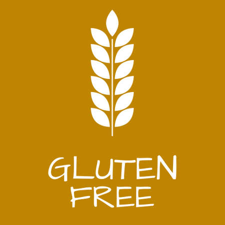 Gluten Free Label. Food intolerance symbols. Vector illustration. Illustration