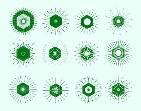 starshine: Retro Sun burst shapes