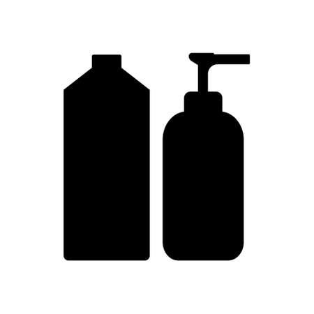 Shampoo and Soap flat icon on white background. Vector illustration. Illustration