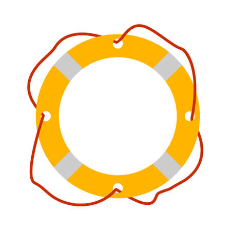 Lifebuoy icon. Tourism equipment. River boat trip web elements. Vector illustration.