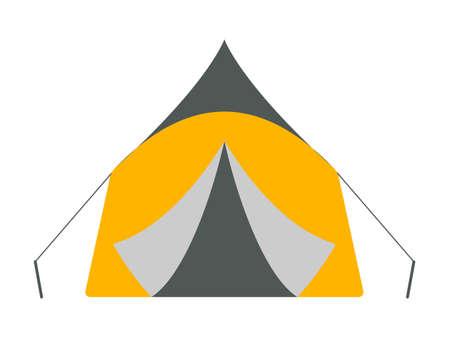 crampon: Tent icon. Tourism equipment. River boat trip web elements. Vector illustration. Illustration