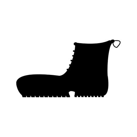 crampons: Boots with crampons isolated on white background. Vector illustration. Illustration
