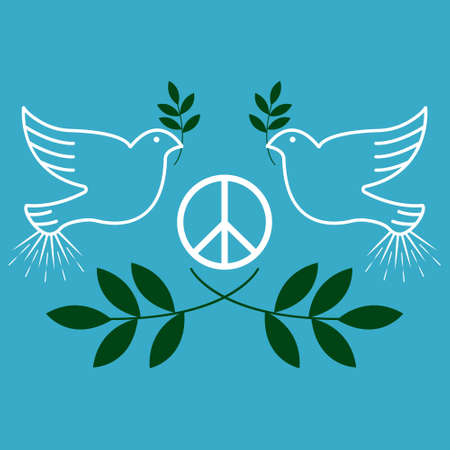 Peace. Vintage and retro typographic design. Vector illustration