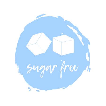 intolerancia: Sugar Free Label. Food intolerance symbols. Vector illustration. Vectores