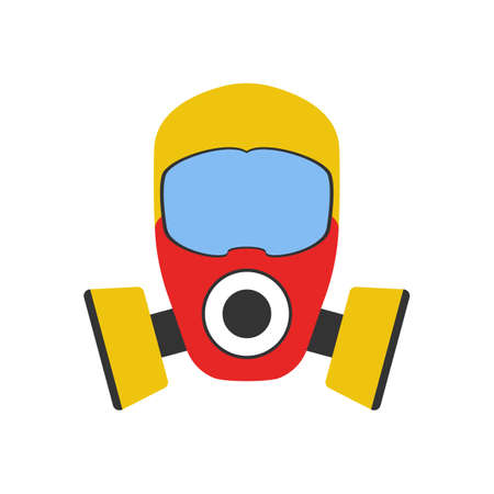 Gas Mask icon. Elements of the fire departament equipment icons. Vector Illustration.