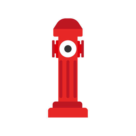 Hydrant icon. Elements of the fire departament equipment icons. Vector Illustration.