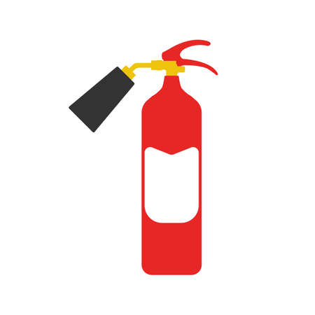 Fire Extinguisher. Elements of the fire departament equipment icons. Vector Illustration. Illustration