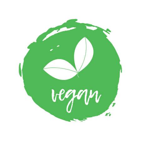Vegetatian Label. Food intolerance symbols. Vector illustration.