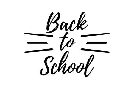Back to School Typographic - Vintage Style Back to School. Vector illustration. Illustration