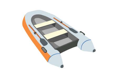 Raft flat icon and sign. Cartoon Vector Illustration. Illustration